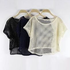 LaRos - Mesh Cropped Top