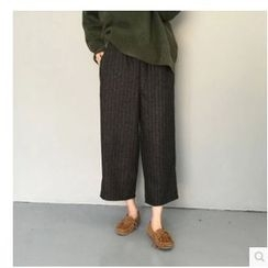 Whitney's Shop - Pinstriped Wide Leg Pants