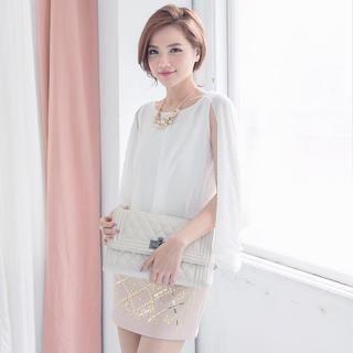 Tokyo Fashion - Pleated Layered Chiffon Sleeveless Top