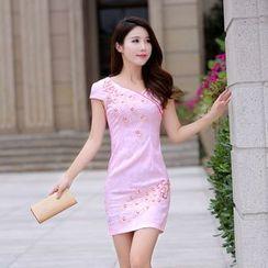 BOHIN - Embellished Short-Sleeve Dress
