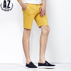Antszone - Striped-Waistline Shorts