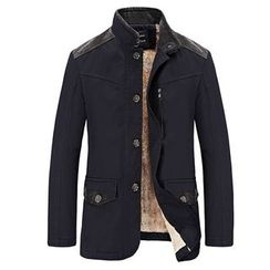 RUYA - Fleece-Lined Paneled Buttoned Jacket