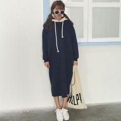 Dute - Panel Fleece-lined Sweat Dress