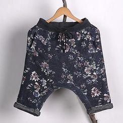 Mannmix - Floral Print Harem Shorts