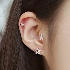 Oohlala! - Rhinestone Single Earring / Ear Cuff
