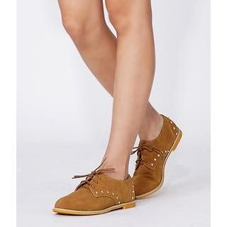 yeswalker - Studded Lace-Up Flats
