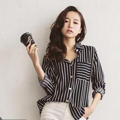 Tokyo Fashion - Striped Long-Sleeved Shirt