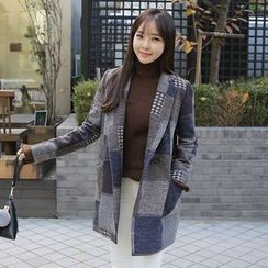 Envy Look - Double-Breasted Patterned Jacket