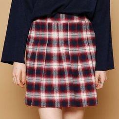 Envy Look - Check A-Line Mini Skirt