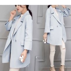 Mandalle - Lapel Wool Coat