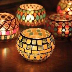 Thula Design - Mosaic Glass Candle Holder