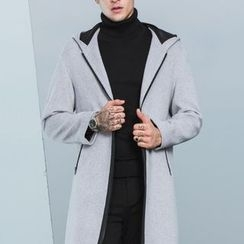 Antszone - Hooded Long Coat