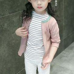 Matatabi - Kids Printed Zip Knit Cardigan