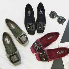Zapatos - Faux-Leather Buckled Loafers