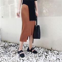 Sonne - 不規則針織半身裙