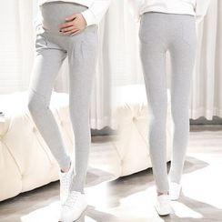 Mamaladies - Maternity Cotton Skinny Pants