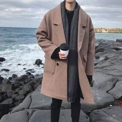 Soulcity - Double-breasted Knit Coat