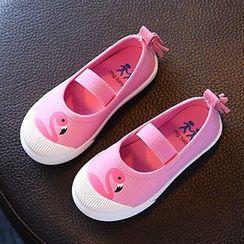 綠豆蛙童鞋 - 印花帆布輕便鞋
