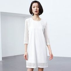 DIALOG - Striped Shift Dress
