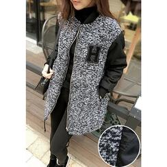 REDOPIN - Color-Block Zip Jacket
