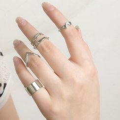Seirios - Set of 5: Knuckle Ring