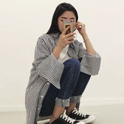 HOTPING - Striped Cotton Shirt