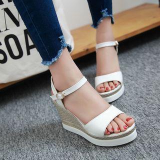 Pastel Pairs - Wedged Sandals