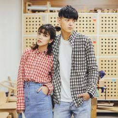 Simpair - Plaid Couple Matching Shirt