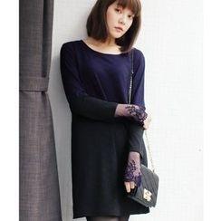 Tokyo Fashion - Long-Sleeve Color-Block Dress
