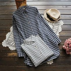 YOYO - Plaid Shirtdress