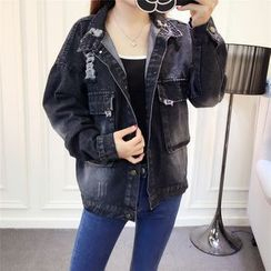 RUI - Washed Distressed Denim Jacket