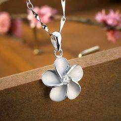 JPF - 925 Sterling Silver Flower Pendant