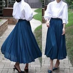 The Violet - Pleated Maxi Skirt
