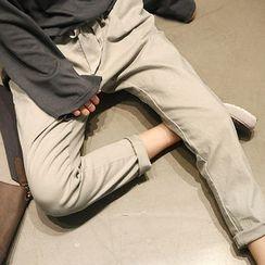 NANING9 - Drawstring-Waist Baggy Pants