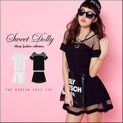 Sweet Dolly - Set: Tulle Panel Top + Skirt