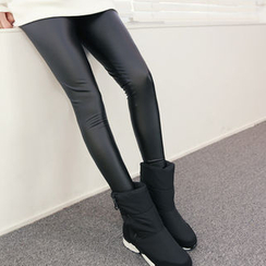 DANI LOVE - Coated Brushed-Fleece Lined Leggings