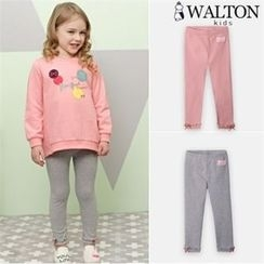 WALTON kids - Girls Ribbon-Hem Leggings