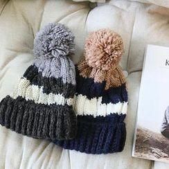 NANING9 - Pompom Knit Beanie