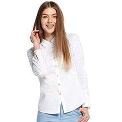 O.SA - Eyelet-Lace-Panel Shirt