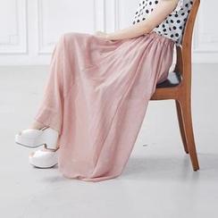 BAIMOMO - Pleated Maxi Skirt