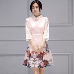 Romantica - 3/4-Sleeve Printed Dress