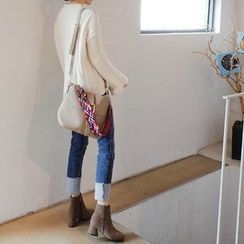 mimi&didi - Brushed-Fleece Lined Straight-Cut Jeans