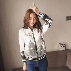 ANGELA - Printed Zip Jacket