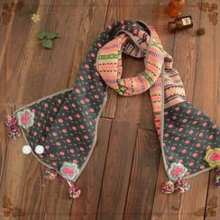 Angel Love - Flower Applique Scarf