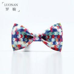 Luonan - 图案蝴蝶领带
