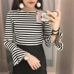 Lemon Bliss - Striped Long Sleeve T-Shirt