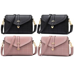 BeiBaoBao - Faux-Leather Cross Bag
