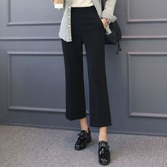 DANI LOVE - Flat-Front Straight-Cut Pants
