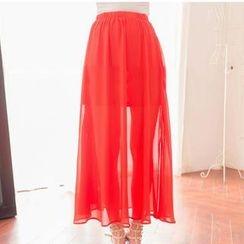 Lace Girl - Chiffon Maxi Skirt