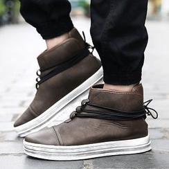 Chariot - 仿皮高幫運動鞋